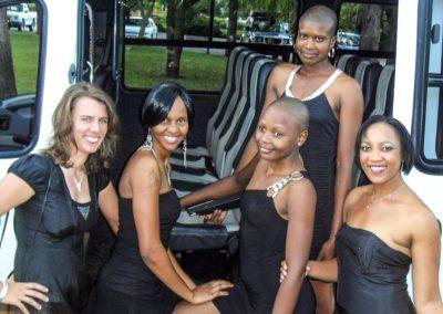 Abfahrt zu den Botswana Sport Awards