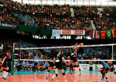Julia Osterloh vor 10.000 Zuschauern im Pokalfinale